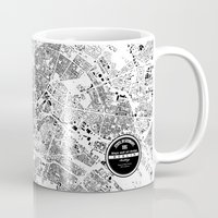 berlin Mugs featuring BERLIN by Maps Factory