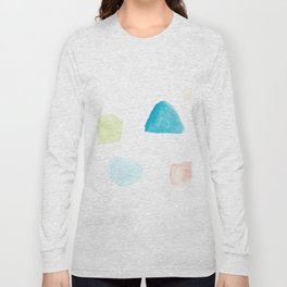 180807 Abstract Watercolour 9  Colorful Abstract  Modern Watercolor Art Long Sleeve T-shirt