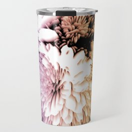 Mums abstract with shades of purple and gold Travel Mug