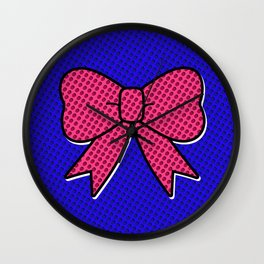 Comic Bow Wall Clock