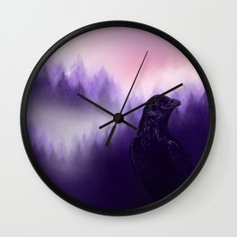 Mythical crow Wall Clock
