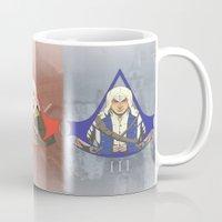 assassins creed Mugs featuring Master Assassins by Guialou