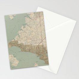 Vintage Map of Panama City FL (1943) Stationery Cards