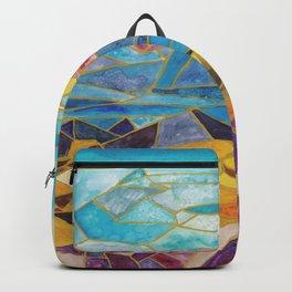 abstract geometric mountain range Backpack
