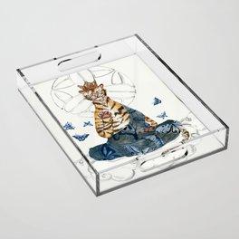 Meditating Tiger Acrylic Tray