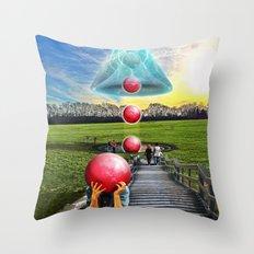 Interspatial Field Throw Pillow