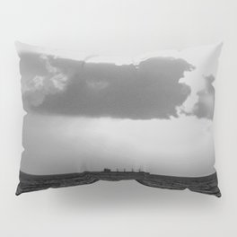 Evening clouds over the sea Pillow Sham