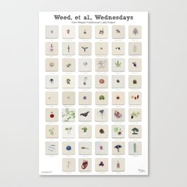 Weed, et al., Wednesdays: 52 Weeks of Botanical Watercolor Paintings Canvas Print