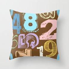 Numberology Throw Pillow