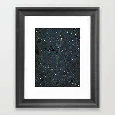 Constellation Sail Boat Framed Art Print