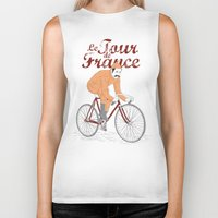 tour de france Biker Tanks featuring tour de france by cikuta