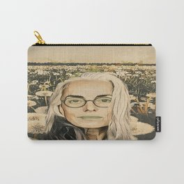Old lady in the field Carry-All Pouch