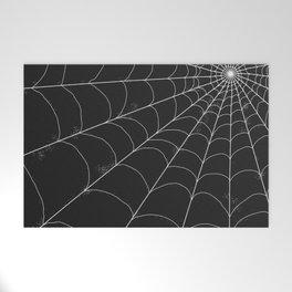 Spiderweb on Black Welcome Mat