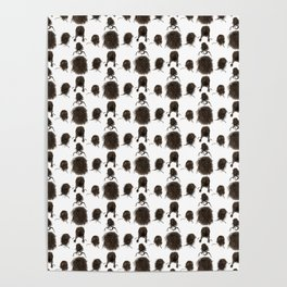 Messy dry curly hair pattern Poster