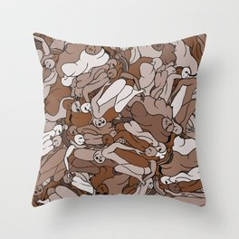 Chocolate Coffee Body Slugs Throw Pillow