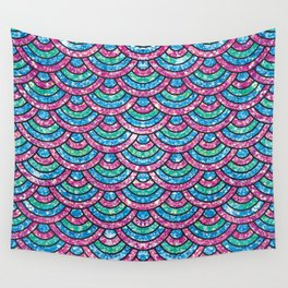 Glitter mermaid scales Wall Tapestry