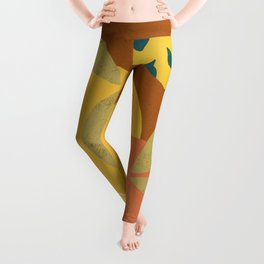 Summer citrus #1 Pamplemousse & Orange aesthetic minimalistic illustration  Leggings