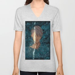 Surrounded by Flowers Unisex V-Neck