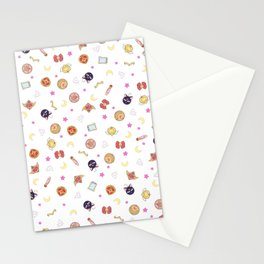 sailor moon pattern Stationery Cards