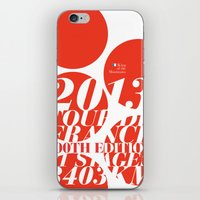 tour de france iPhone & iPod Skins featuring King of the Mountains: Tour de France 2013 by Dushan Milic