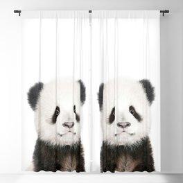 Baby Panda Portrait Blackout Curtain