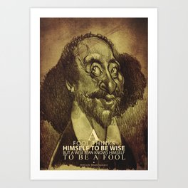 William Shakespeare-wise and fool Art Print