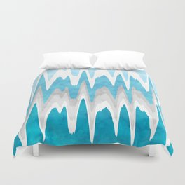 Sky Blue Abstract Duvet Cover