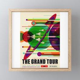 NASA Space Saturn Shuttle Retro Poster Futuristic Explorer Framed Mini Art Print