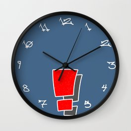 Exclamation Wall Clock