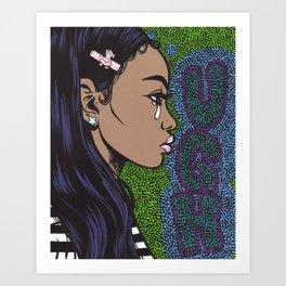 UGH Crying Girl Art Print