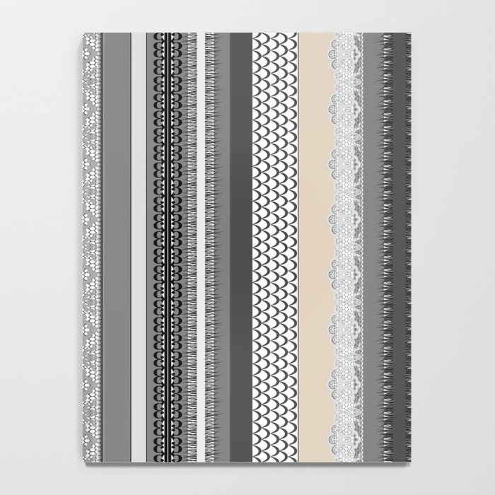 Beach House Stormy Grey Notebook