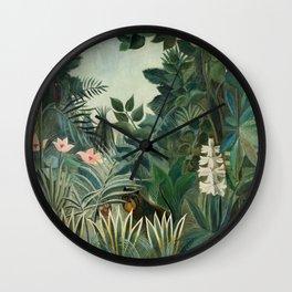 The Equatorial Jungle (1909) by Henri Rousseau Wall Clock