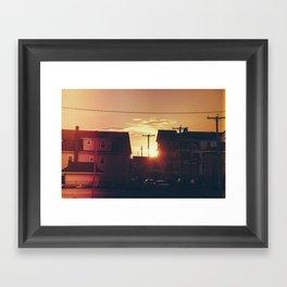 Seaside Sunset  Framed Art Print