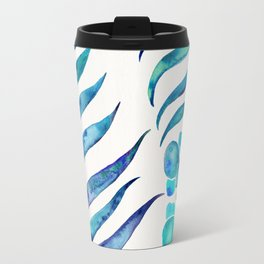 Blooming Orchid – Navy & Turquoise Palette Travel Mug