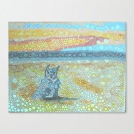 Owl On Zuma Beach Canvas Print