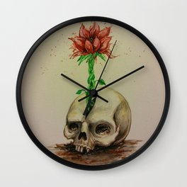 Skullflower Wall Clock
