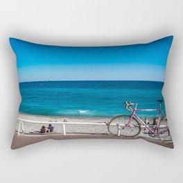 Beach and the bike - Nice, France summer Rectangular Pillow