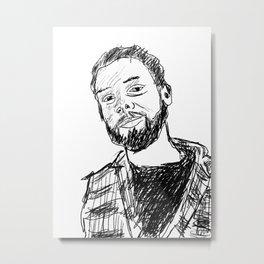 Carlo, quick drawing Metal Print