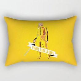 Fight Like a Girl: Beatrix Kiddo Rectangular Pillow