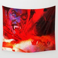 dracula Wall Tapestries featuring count dracula by shiva camille