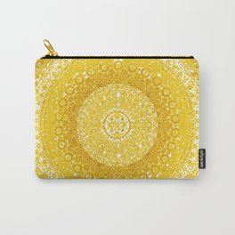 Golden Yellow Tapestry Mandala Carry-All Pouch