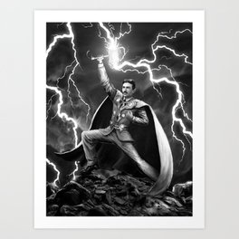 Tesla: God of Thunder Art Print