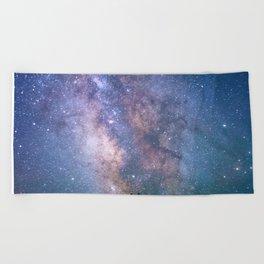 The Night Sky II - glowing stars Beach Towel