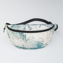 Subtle Blue Textured Acrylic Painting Fanny Pack