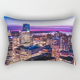 1688 Voyeuristic Vancouver Cityscape - English Bay Pacific Rim View British Columbia Canada Travel Rectangular Pillow