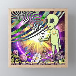 We Come In Peace Framed Mini Art Print