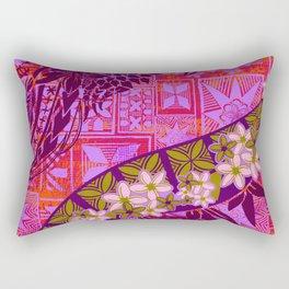 Vintage Samoan Tribal Tapa Print Rectangular Pillow