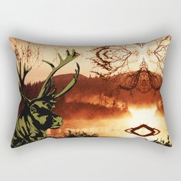 The Reindeer and the Spirit of the Lake Rectangular Pillow
