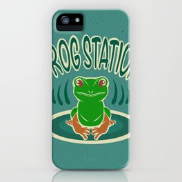 Frog station iPhone Case