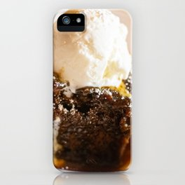 Sticky toffee pudding and ice-cream iPhone Case
